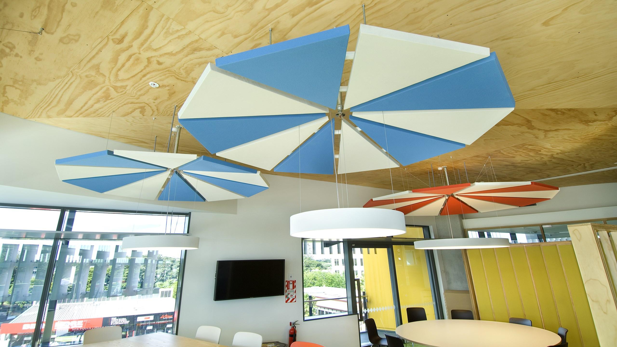 ASB Greenlane Regional Centre - Triton Sound shapes, Triangles