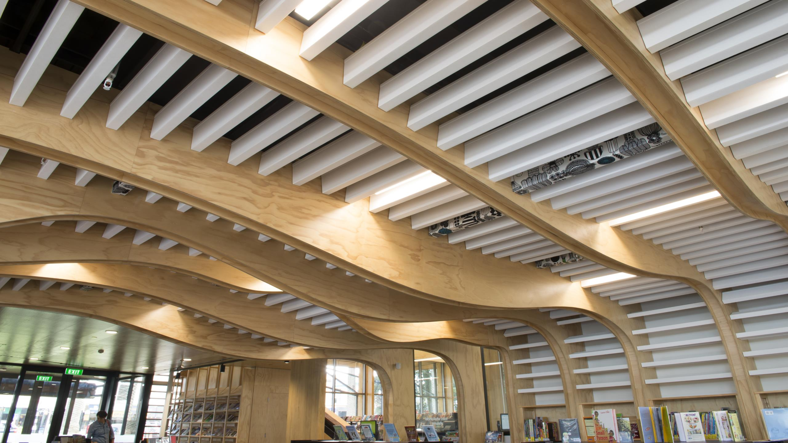 Devonport Library - Baffle Beams