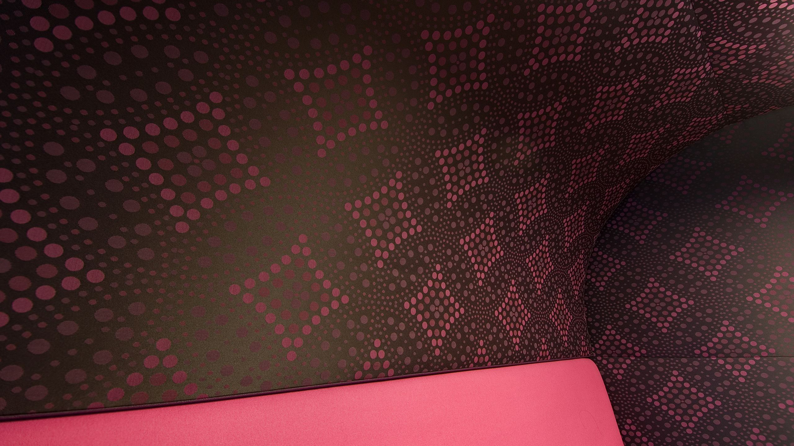 ASB regional centre's under the stairs seating alcove with Snaptex stretched fabric system