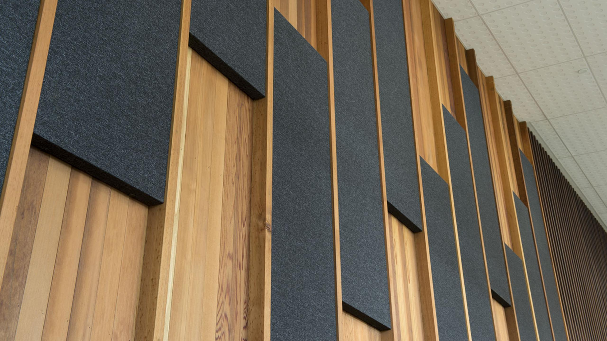 Devonport Library showing fabwall panels installed direct fixed to the walls