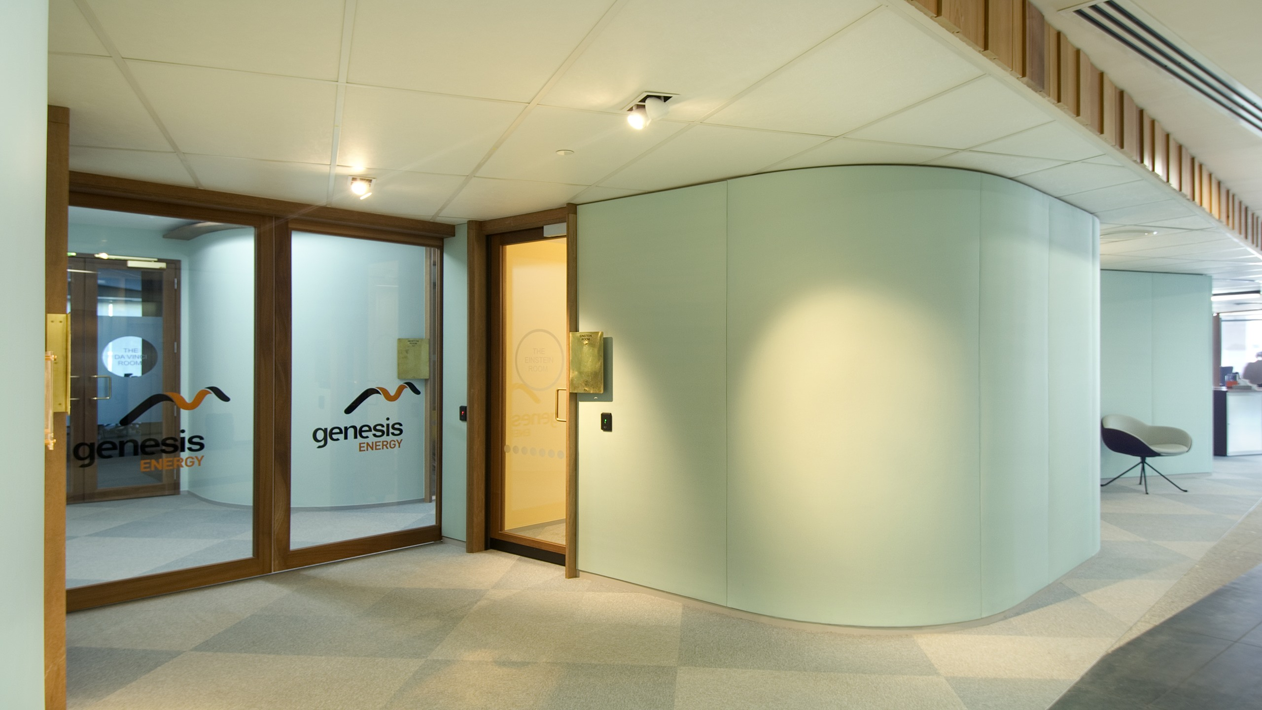 Genesis Energy - Curved Snaptex Walls