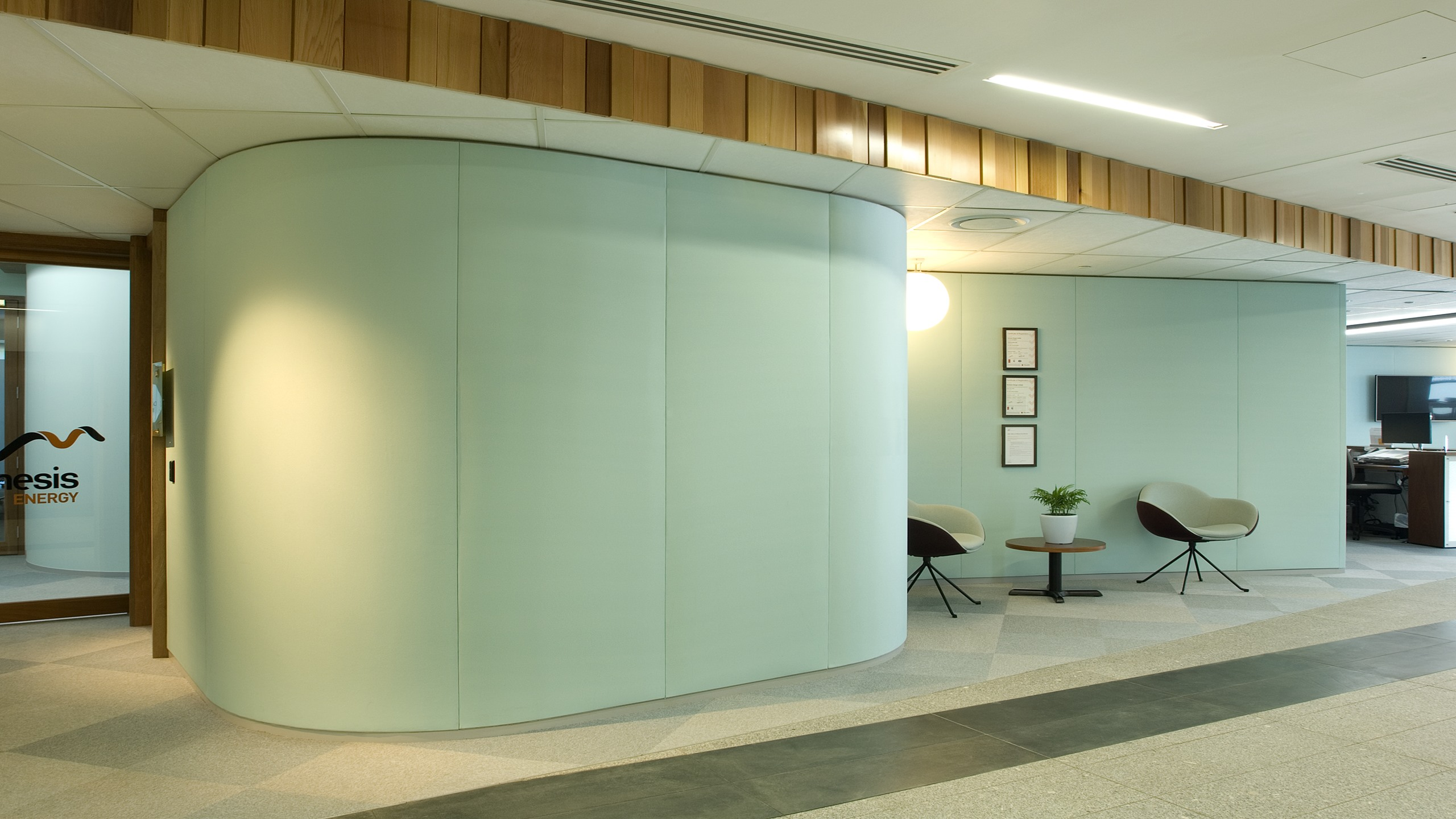 Genesis Energy - Curved Snaptex Walls