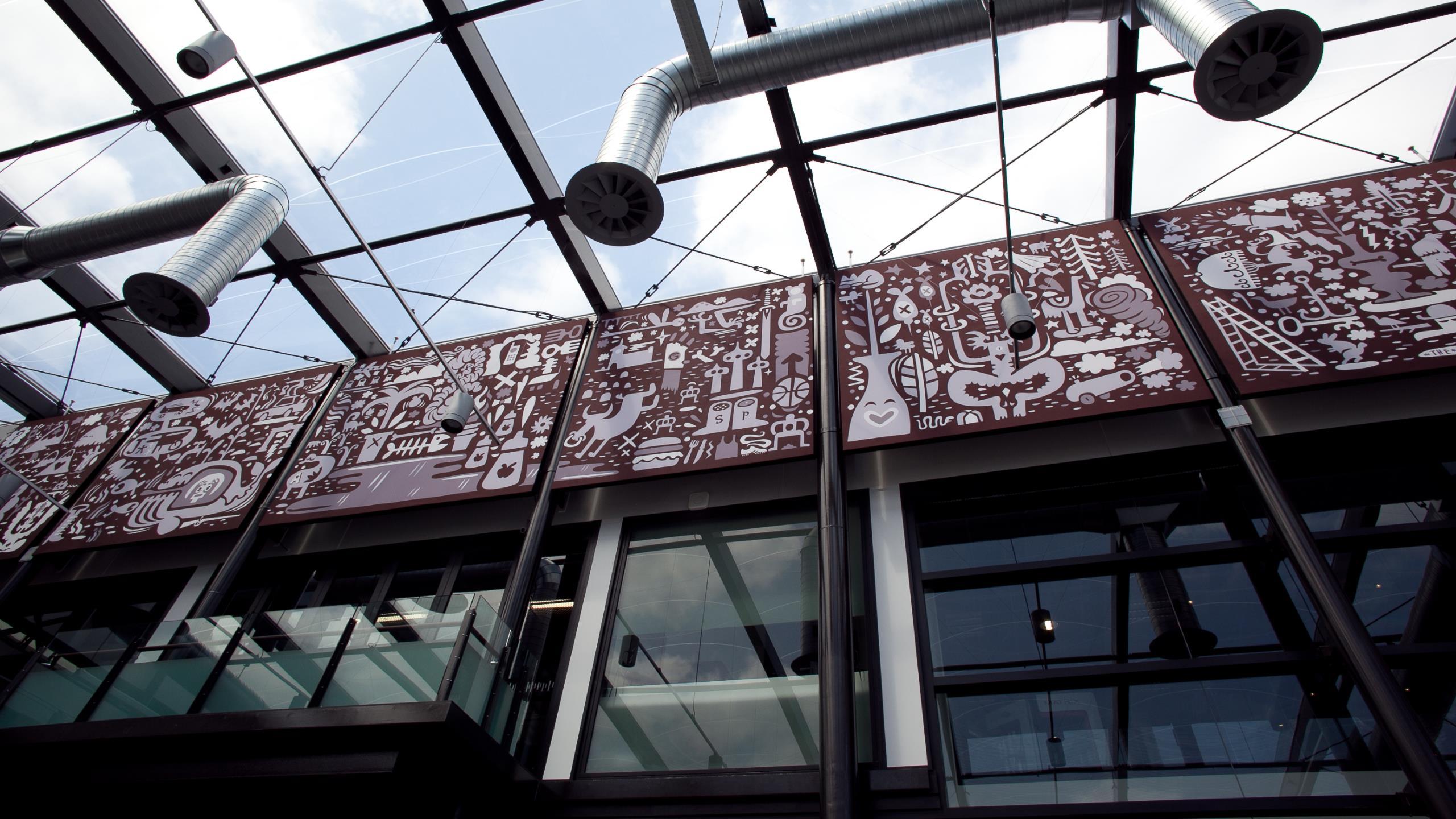 Wintec House Atrium - Snaptex + Digital print