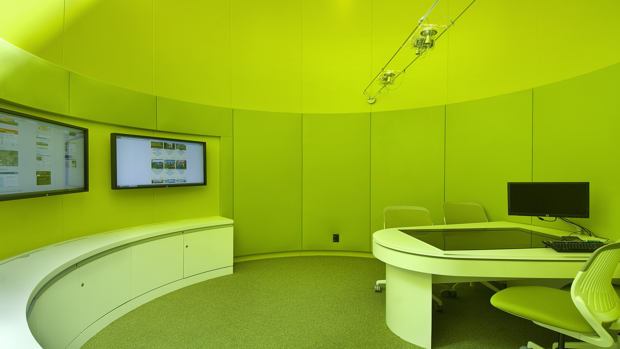 ASB North Wharf - Curved Snaptex stretched fabric wall system