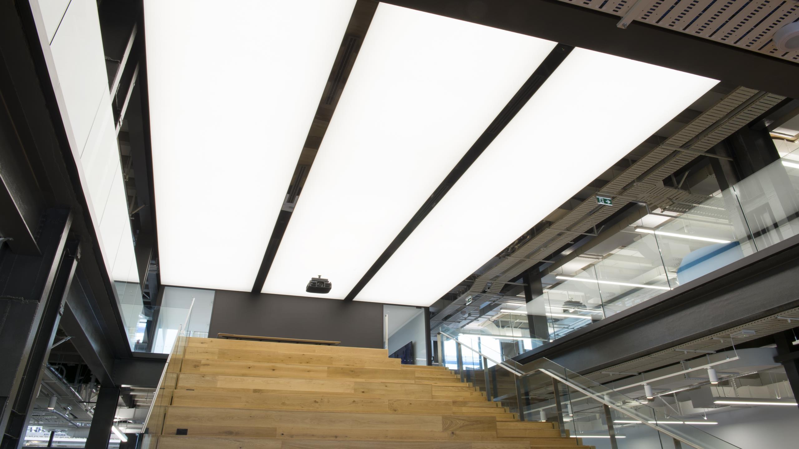 WAM - backlit stretched membrane ceiling