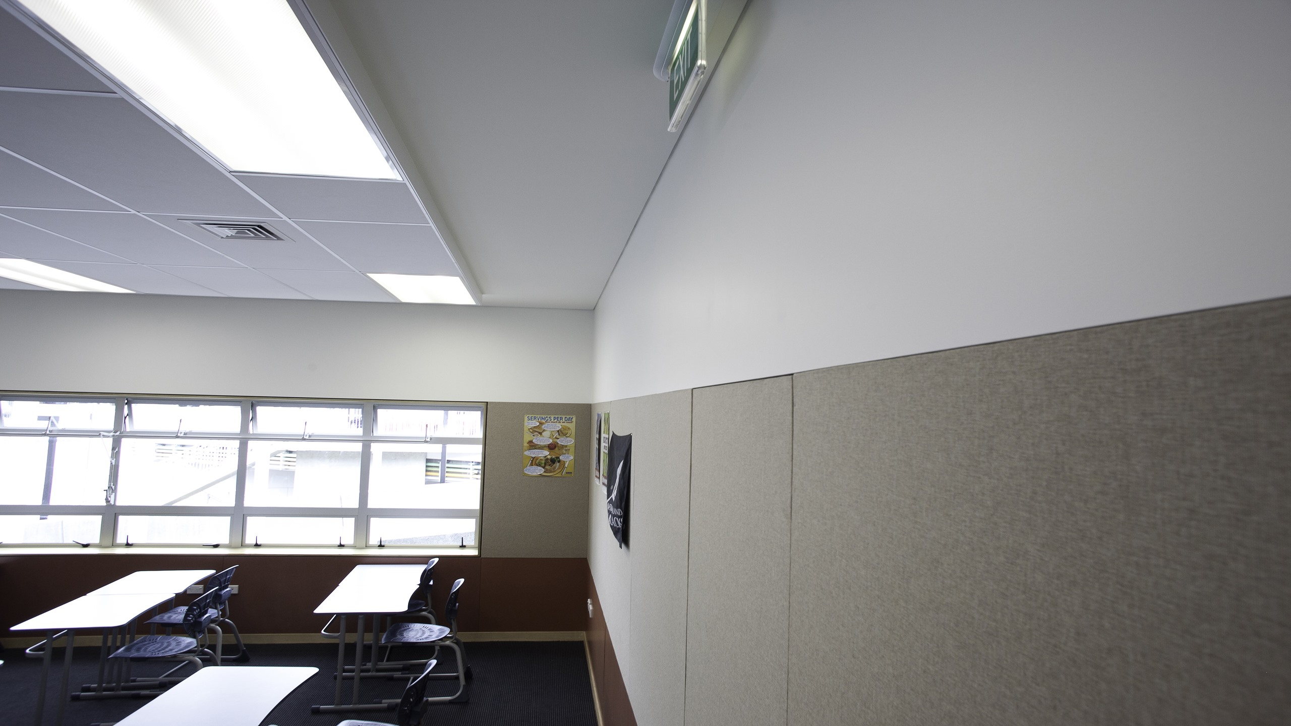 St Peters School - Quicklock stretched fabric system