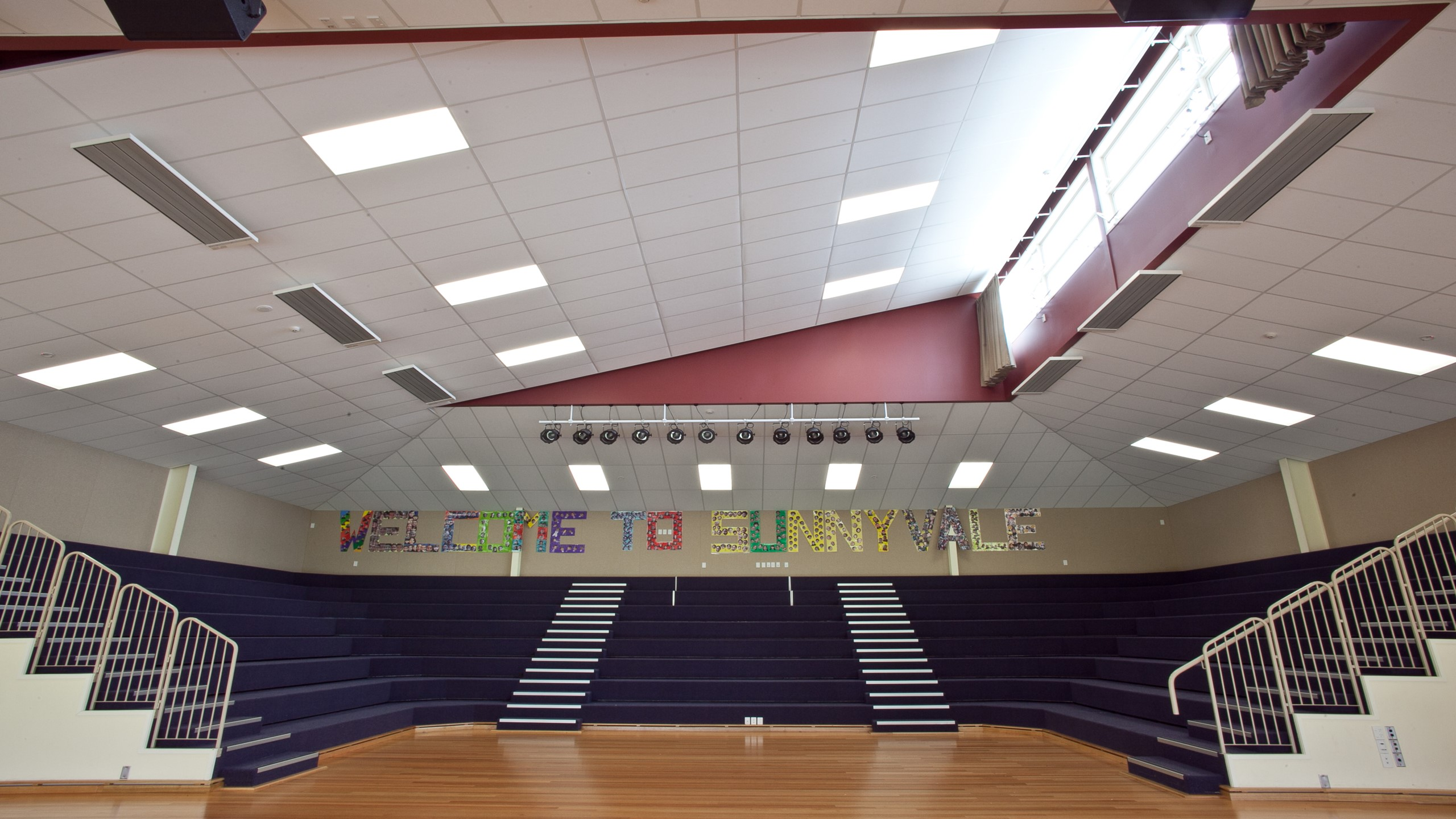Sunnyvale School showing Diffusion installed into the auditorium